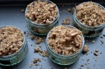 Pear, Chocolate and Pecan Crumbles