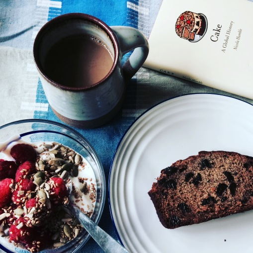 Banana bread breakfast