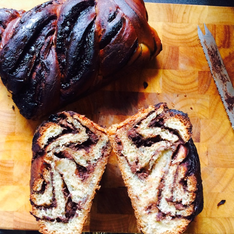 Cross section sourdough babka
